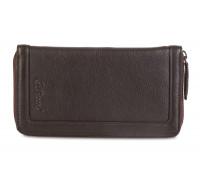 Мужской клатч Ashwood Leather Travel Wallet Dark Brown ALTW/107