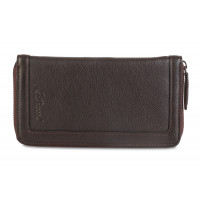 Мужской клатч Ashwood Leather Travel Wallet Dark Brown