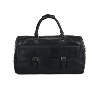 Дорожная сумка Ashwood Leather Francis Black в магазине Galantmaster.ru фото
