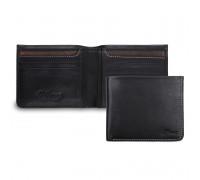 Бумажник Ashwood Leather 1551 Black AL1551/101