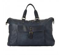 Дорожная сумка Ashwood Leather 1337 Navy в магазине Galantmaster.ru фото