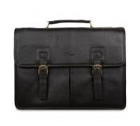 Портфель Ashwood Leather Gareth Dark Brown в магазине Galantmaster.ru фото