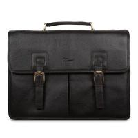 Портфель Ashwood Leather Gareth Dark Brown