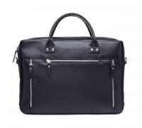 Кожаная деловая сумка Barossa Black в магазине Galantmaster.ru фото