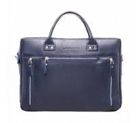 Кожаная деловая сумка Barossa Dark Blue в магазине Galantmaster.ru фото