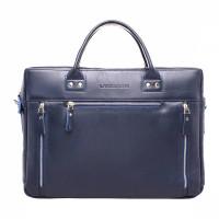 Кожаная деловая сумка Barossa Dark Blue