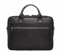 Кожаная деловая сумка Bartley Black