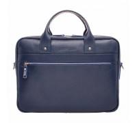 Кожаная деловая сумка Bartley Dark Blue