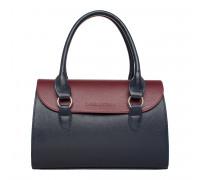 Женская кожаная сумка Bloy Dark Blue/Burgundy