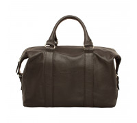 Кожаная спортивная сумка Calcott Brown