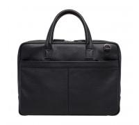Кожаная деловая сумка Carter Black