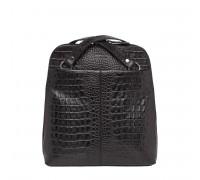 Компактный женский рюкзак-трансформер Eden Black Caiman 918103/BLC