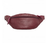 Кожаная поясная сумка Ellis Burgundy