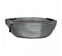 Кожаная поясная сумка Ellis Silver Grey