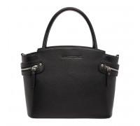 Кожаная женская сумка Hacket Black