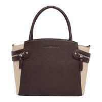 Кожаная женская сумка Hacket Brown/Beige
