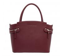 Кожаная женская сумка Hacket Burgundy в магазине Galantmaster.ru фото