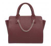 Кожаная сумка через плечо Leda Burgundy