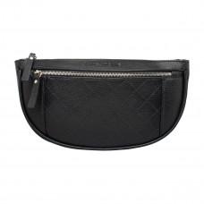 Кожаная поясная сумка Nevil Black