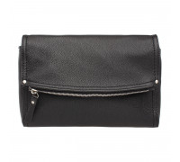 Женская кожаная сумка кросс-боди  Ripley Black 987988/BL