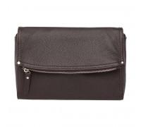 Женская кожаная сумка кросс-боди  Ripley Brown