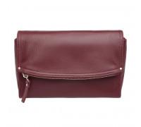 Женская кожаная сумка кросс-боди  Ripley Burgundy