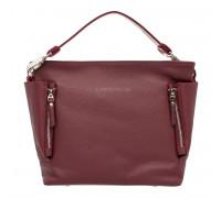 Кожаная сумка через плечо Sabrina Burgundy