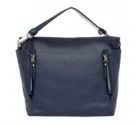 Кожаная сумка через плечо Sabrina Dark Blue
