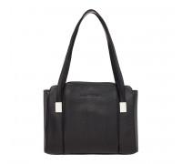 Кожаная женская сумка Tara Black