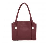 Кожаная женская сумка Tara Burgundy в магазине Galantmaster.ru фото