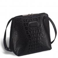 Оригинальная сумочка через плечо BRIALDI Torre (Торре) croco black