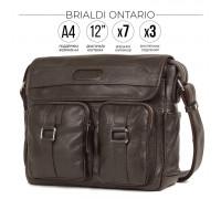 Сумка через плечо BRIALDI Ontario (Онтарио) relief brown