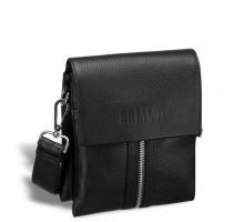 Вертикальная сумка mini-формата через плечо BRIALDI Campi (Кампи) relief black