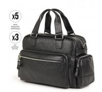 Вместительная деловая сумка BRIALDI Longford (Лонгфорд) relief black BR34146BX