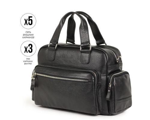 Вместительная деловая сумка BRIALDI Longford (Лонгфорд) relief black