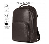 Мужской рюкзак с 2 отделениями BRIALDI Daily (Дейли) relief brown