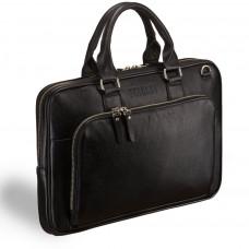 Деловая сумка SLIM-формата для документов BRIALDI Fairfaxe (Фэрфакс) black в магазине Galantmaster.ru фото