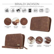 Компактный мужской клатч BRIALDI Jackson (Джексон) relief rust в магазине Galantmaster.ru фото