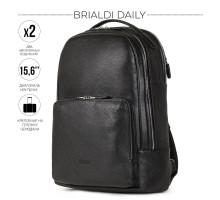 Мужской рюкзак с 2 отделениями BRIALDI Daily (Дейли) relief black