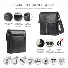 Сумка через плечо BRIALDI Grand Campi (Кампи) relief black в магазине Galantmaster.ru фото