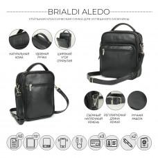 Кожаная сумка через плечо BRIALDI Aledo (Аледо) relief black в магазине Galantmaster.ru фото