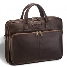 Удобная деловая сумка для документов BRIALDI Pasteur (Пастер) relief brown в магазине Galantmaster.ru фото