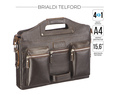 Универсальный портфель BRIALDI Telford (Телфорд) relief brown
