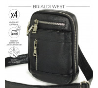Кожаная сумка через плечо mini-формата BRIALDI West (Вест) relief black