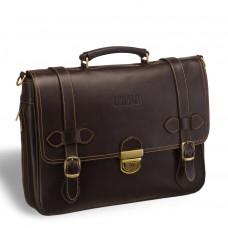 Функциональный мужской портфель BRIALDI Mendel (Мендель) brown в магазине Galantmaster.ru фото