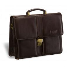 Классический портфель BRIALDI Asti (Асти) brown в магазине Galantmaster.ru фото
