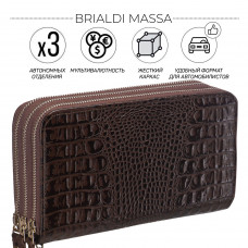 Клатч BRIALDI Massa (Масса) croco brown