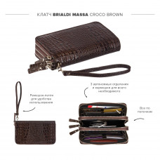 Клатч BRIALDI Massa (Масса) croco brown
