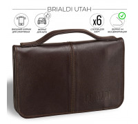 Мужской клатч BRIALDI Utah (Юта) brown в магазине Galantmaster.ru фото