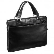 Деловая сумка SLIM-формата BRIALDI Ostin (Остин) black в магазине Galantmaster.ru фото